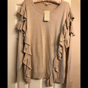 Michael Michael Kors Ruffle Sweater Size XL, NWT